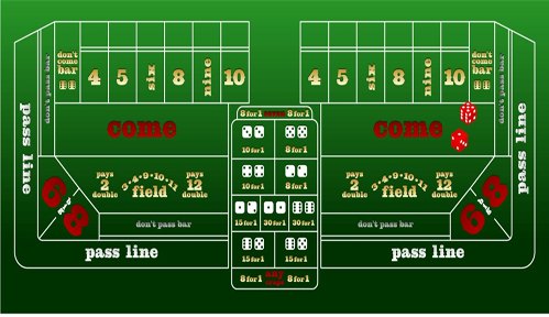 Vegas craps table layout
