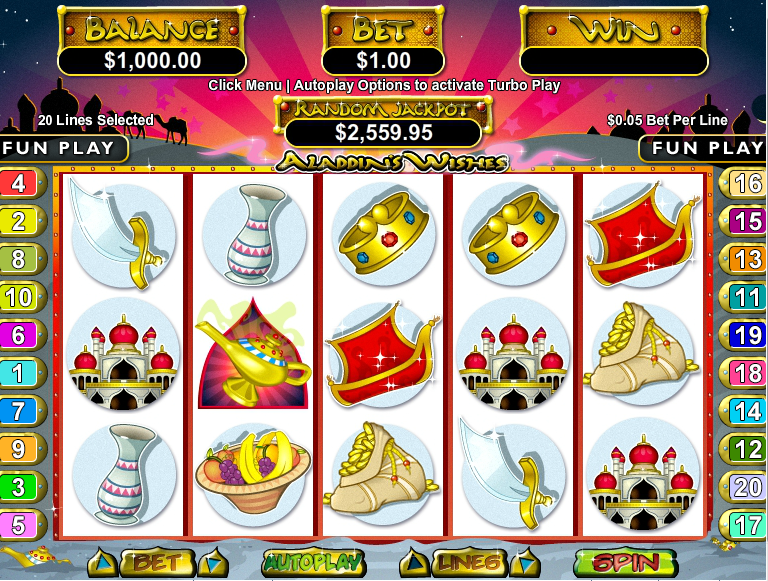Aladdins Gold Casino Screenshot 1