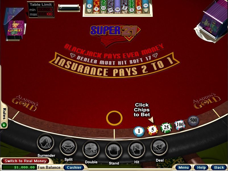 Aladdins Gold Casino Screenshot 6