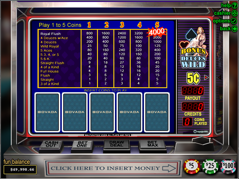 Bovada Casino Screenshot 6