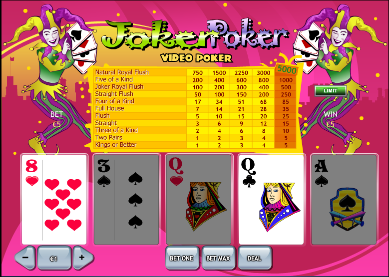best online casino games joker poker