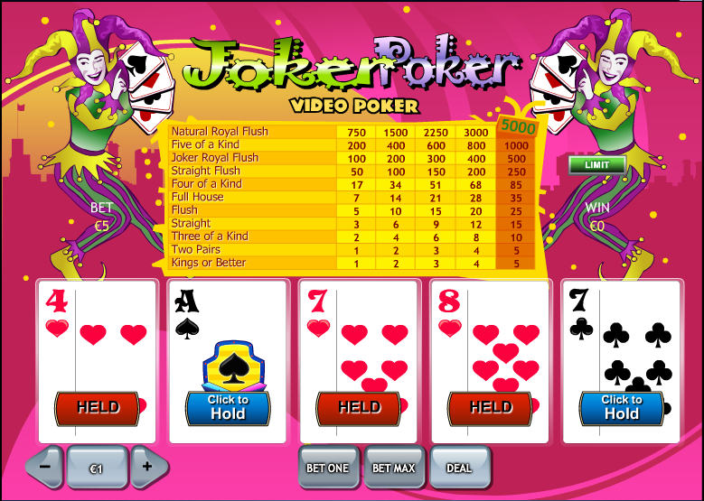 Free 50 Hand Jokers Wild Video Poker and Real Money Casino Play