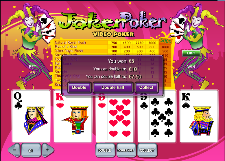 online casino free bet joker poker