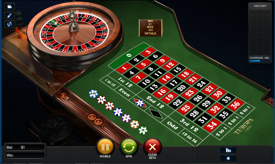 Europa Casino Screenshot 7