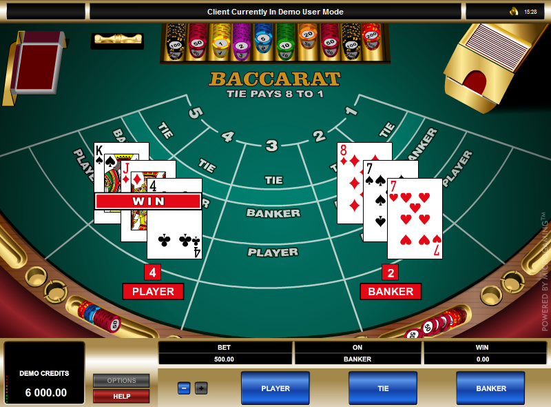 Single Deck Baccarat Screenshot 1