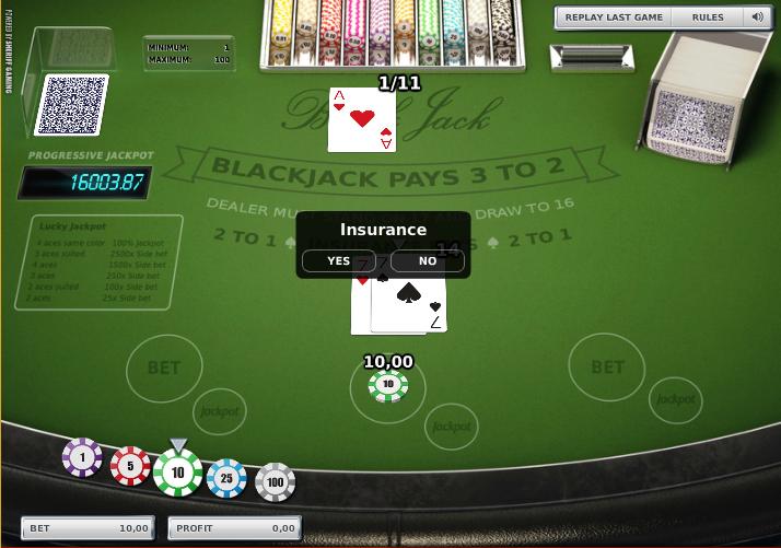 How to win progressive blackjack jackpot