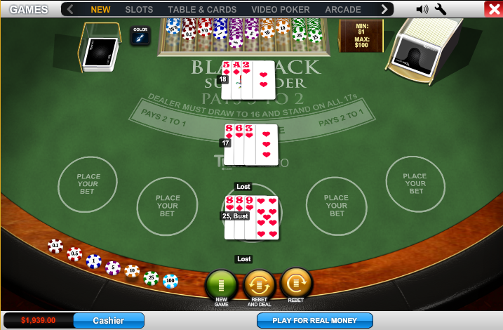 Play Blackjack Surrender Online at Casino.com NZ