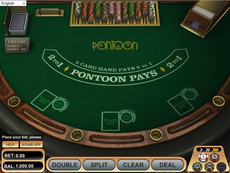 online pontoon card game