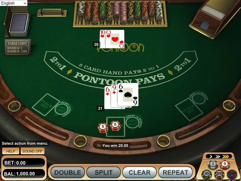 online cassino card game