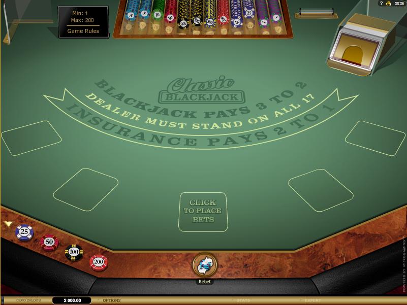 Blackjack single deck game