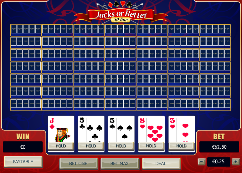 Play 50-Line Jacks or Better Video Poker Online at Casino.com
