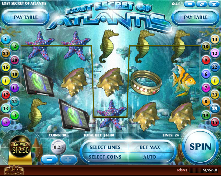Secrets of Atlantis™ Slot Machine Game to Play Free in NetEnts Online Casinos