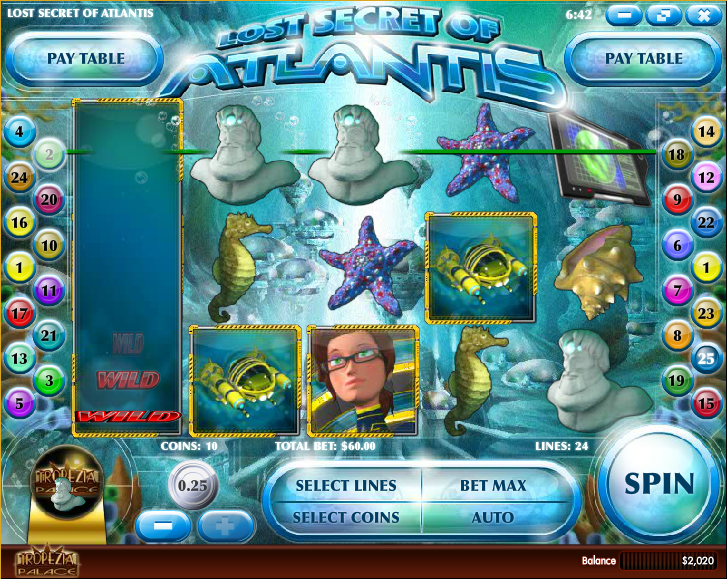 Lost Secret of Atlantis™ Slot Machine Game to Play Free in Rivals Online Casinos