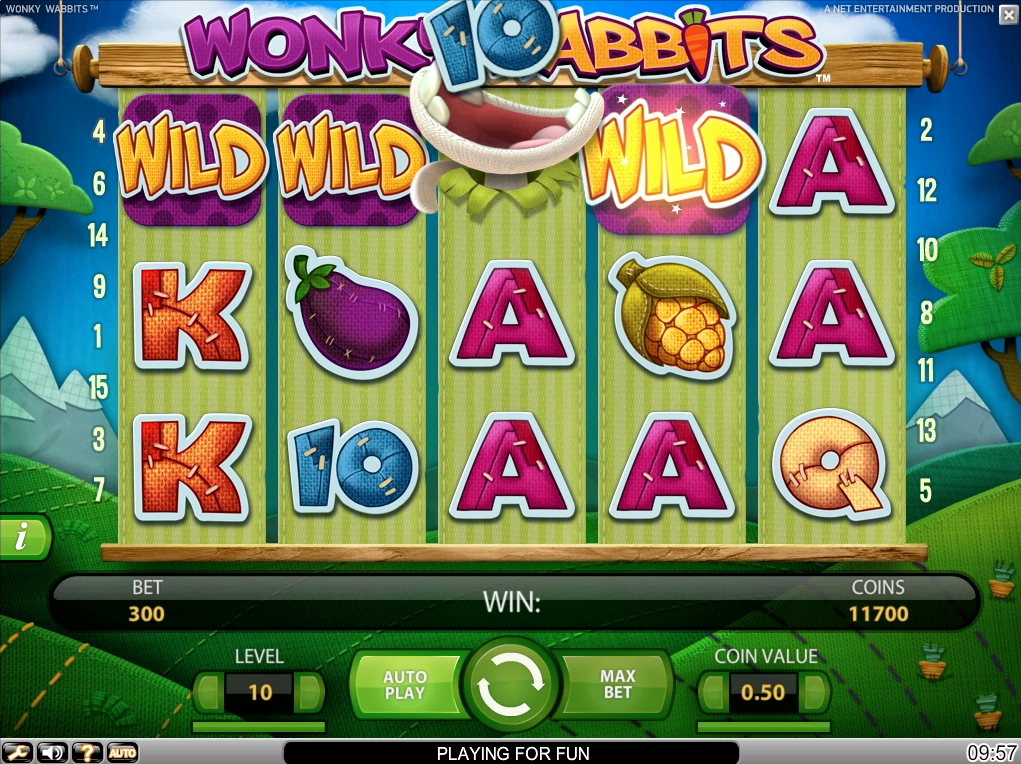 start online casino wonky