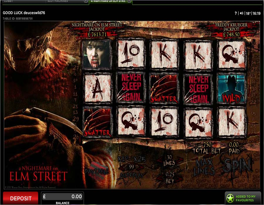 888 Casino Screenshot 1