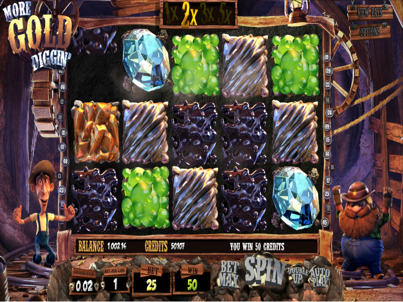 More Gold Diggin™ Slot Machine Game to Play Free in BetSofts Online Casinos