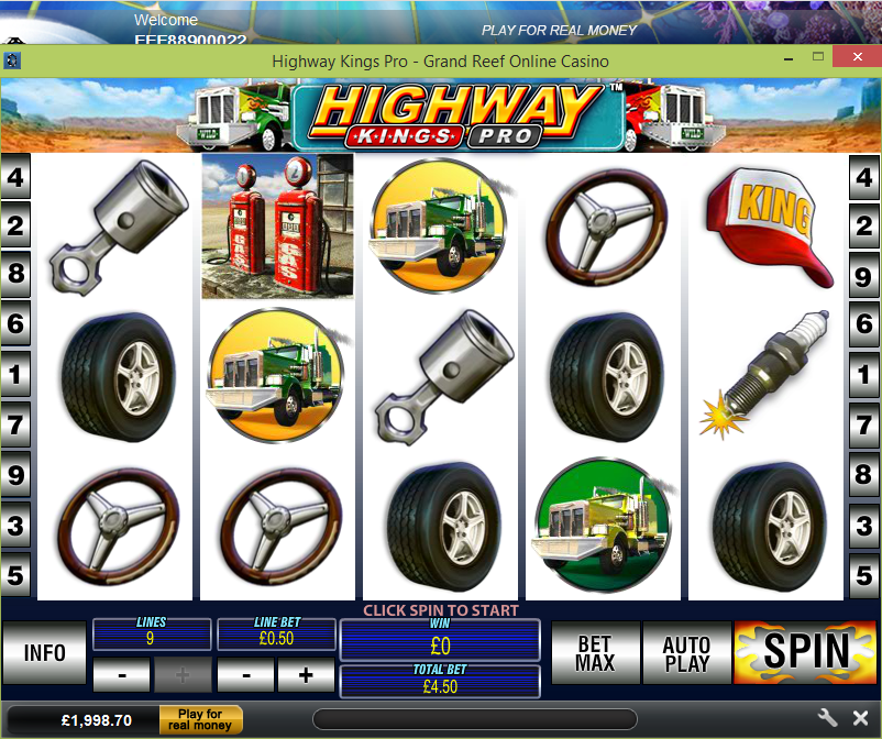 Grand Reef Casino Screenshot 3