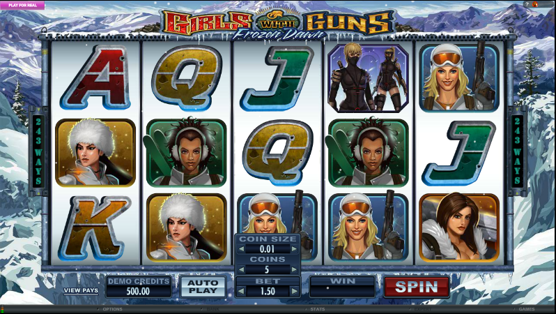 Girls with Guns Frozen Dawn Online Slot - Rizk Casino