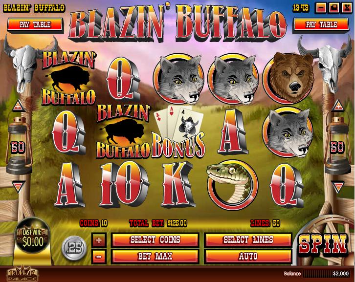 Blazin' Buffalo Screenshot 2