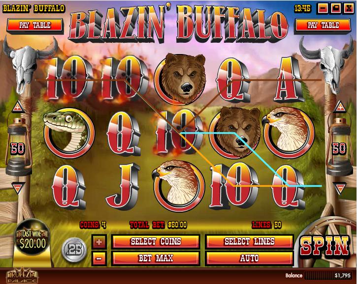 Blazin' Buffalo Screenshot 3