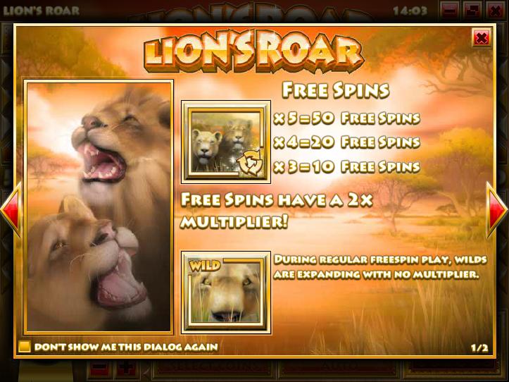 Lion's Roar  Screenshot 1