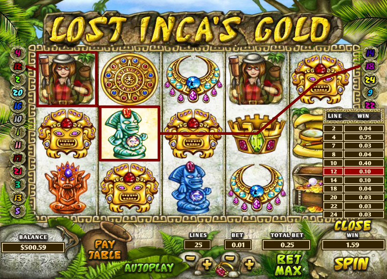 Inca Gold Game