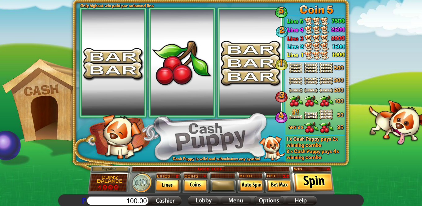 Lucky Creek Casino Screenshot 1