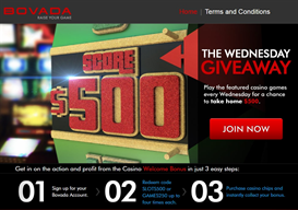 Bovada Casino Wednesday Giveaway