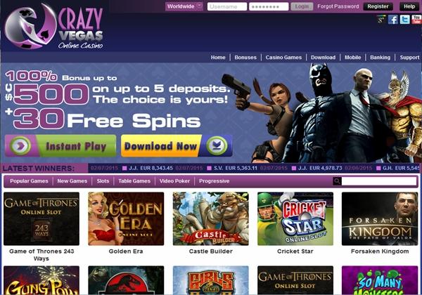 online casino bonus codes crazy slots