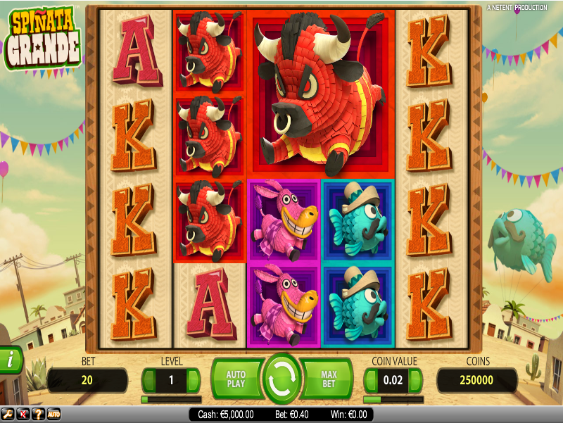 Play Spiñata Grande Slot Online at Casino.com UK