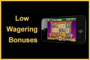 Niedrigwetten-Casinobonusse