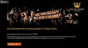 77 Jackpot 50K Compitition
