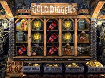 Gold Diggers Slot Screenshot 1