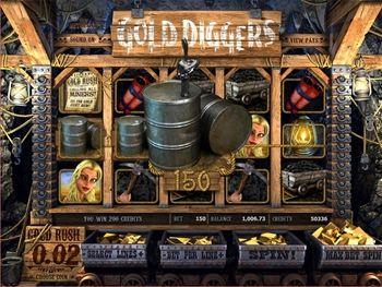 Gold Diggers Slot Screenshot 2