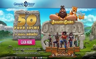 50 Free Spins Grand Reef Casino Bonus