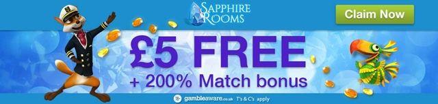 Sapphire Rooms Casino No Deposit Bonus