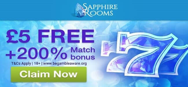Sapphire Rooms No Deposit Bonus