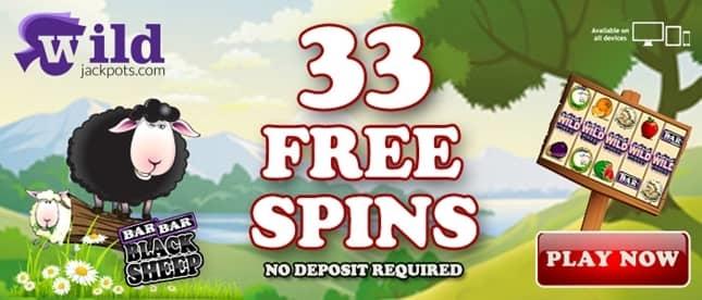 33 Free Spins No Deposit Bonus