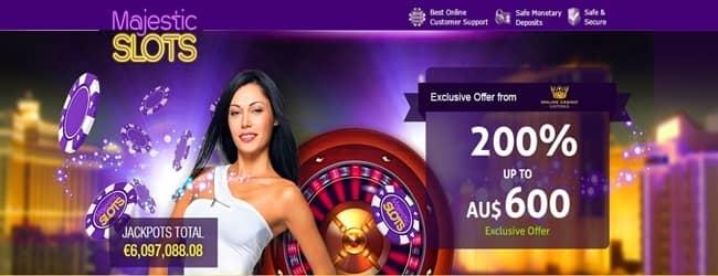 Majestic Slots Exclusive Welcome Bonus
