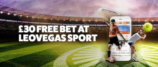 LeoVegas Sport - €30 Free Bet