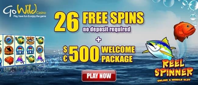 go wild casino free spins
